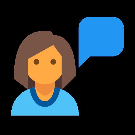 Talk icon in Color