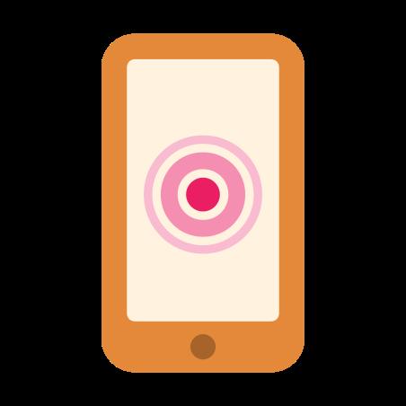 Smarthphone con touchscreen icon