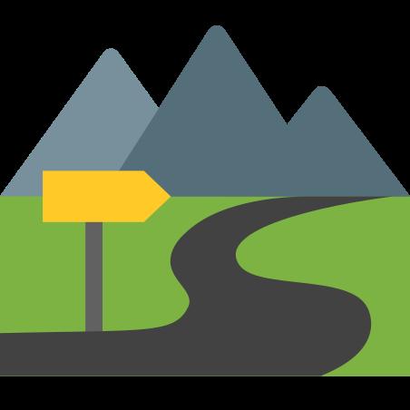 Trail icon in Color