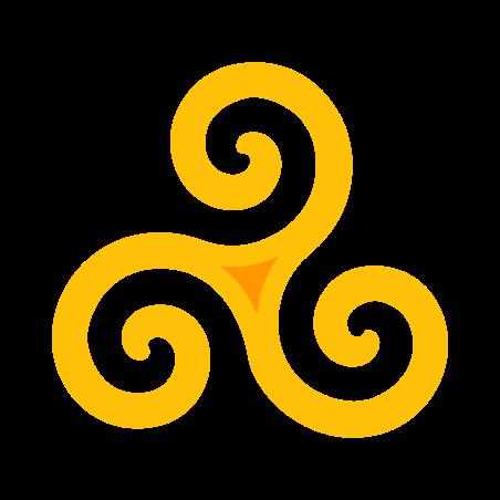 Triskelion icon in Color