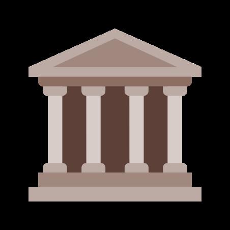 대학 icon in 색상