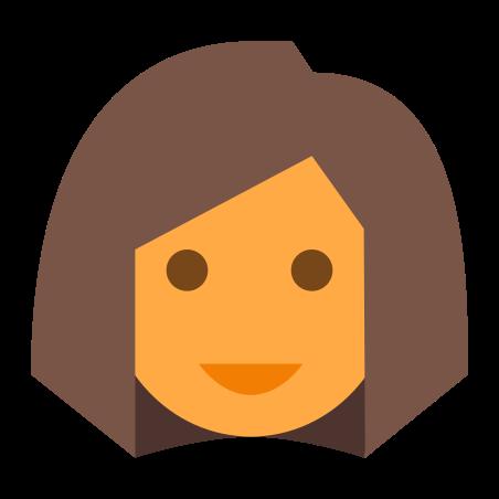 User Female Skin Type 4 icon in Color