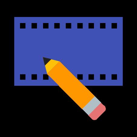 비디오 편집 icon in 색상
