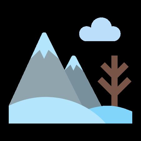 Winter Landscape icon in Color