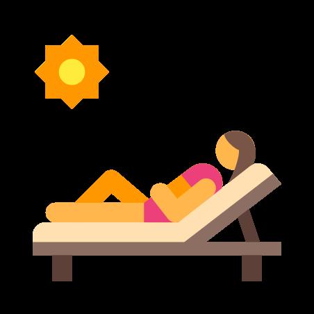 Woman Sunbathing icon