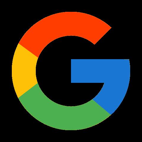 カラー スタイルでの Googleのロゴ のアイコン