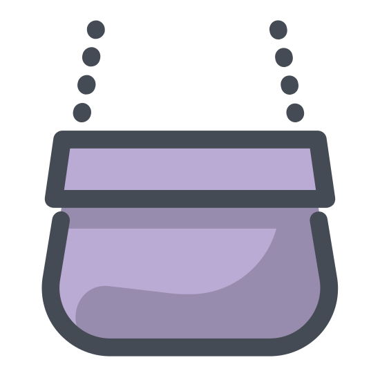 Handbag icon. There is a rectangle. there is a half circle where someone would carry this object with. there are 2 lines. one is verticle and a small one is horizontal.