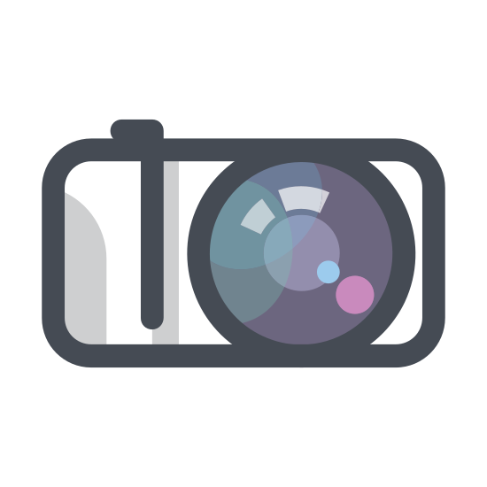 Камера icon. The Icon looks very much like a Camera. However not a very big camera. Not a Nikkon or Cannon. It looks like a older phone type. Not a Polaroid, but from just the sketch of a phone it's not possible me to determine whether or not it's a digital or older style camera or not.