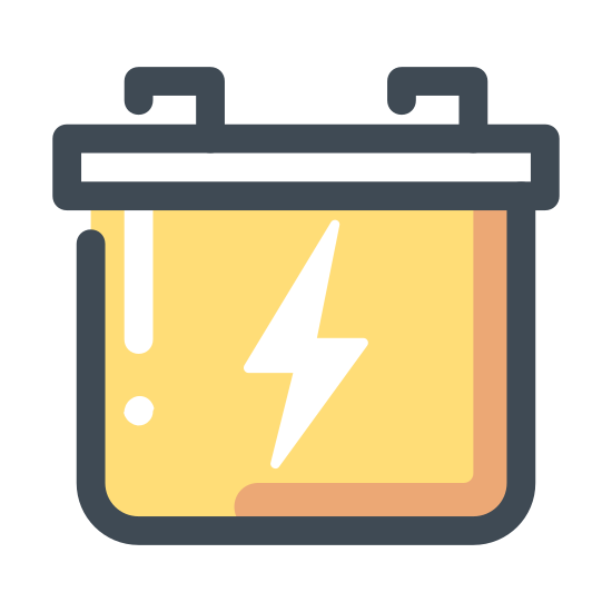 Akumulator samochodowy icon. A car battery is something that keeps your car's electricity running through something called positive and negative outlets. This is where both of those come into play, they feed off each other to keep the battery inside fresh and well so electricity can be ran through it to your electronics in your vehicle.