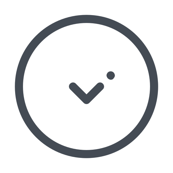 Down Button icon. This is a picture of a circle. inside the circle is an arrow that is pointing downwards. the arrow does not have a line coming from it. there is nothing else inside the circle.