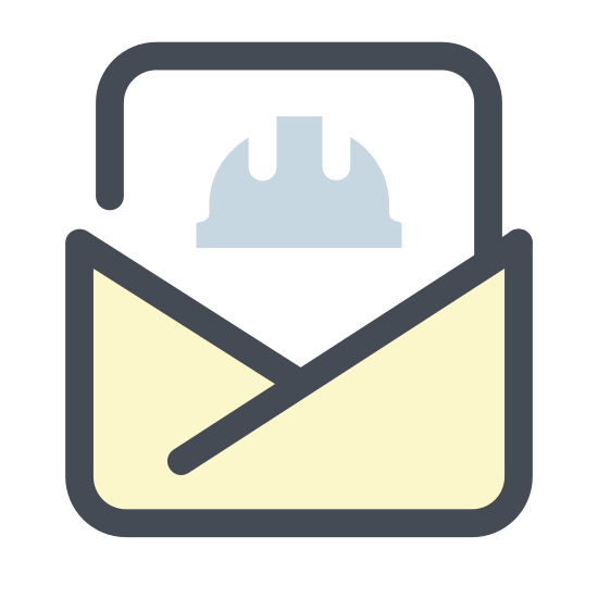 Construction Mail Open icon