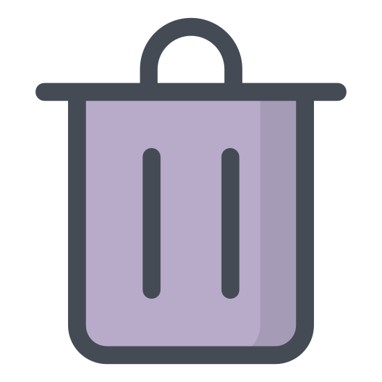 Usuń icon. The icon shows an old style round metal trash can with closed metal lid on top. The icon would be seen on a computer or device as a place to delete items from the system.