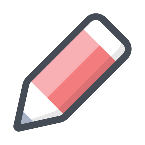 Edytuj icon. Edit allows for you to redo things that are already done. It takes the form of a pencil with an eraser to help you change past mistakes.