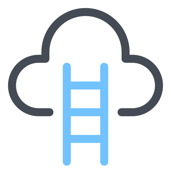 Heaven icon. The icon Entering Heaven Alive looks like a pyramid made out of 7 straight lines, starting with the longest on the bottom and getting shorter on the way up. There is a cloud at the top that has a door in the middle of it.