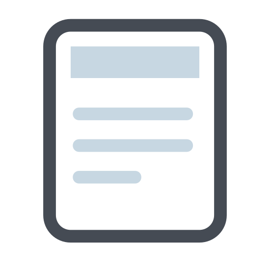 Plik icon. This is a simple icon meant to represent a sheet of paper with the corner folded over. It is a rectangle standing on end, so that the longer sides are vertical. The top right corner is folded over.