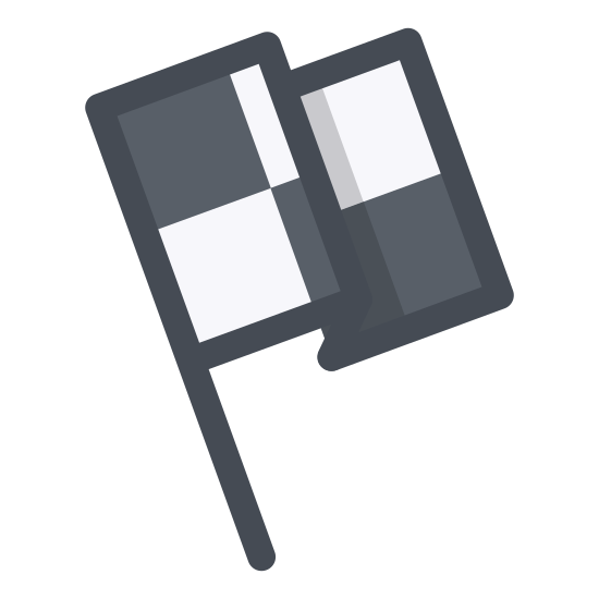 Meta icon. This icon is made up of a rectangle filled with many small squares and lines. It looks just like a flag you might see in front of a government building. There is a thin rectangle that is meant to represent the flag pole.