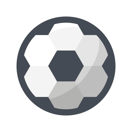 Soccer Ball icon. This icon is composed of a large circle filled with pentagons. The pentagons all share sides in such a way as to completely cover the inner surface of the circle. It looks exactly like a soccer ball, but there are no black sections.