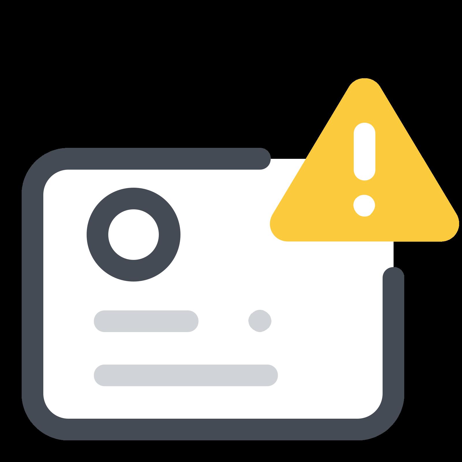 Identification Documents Error icon