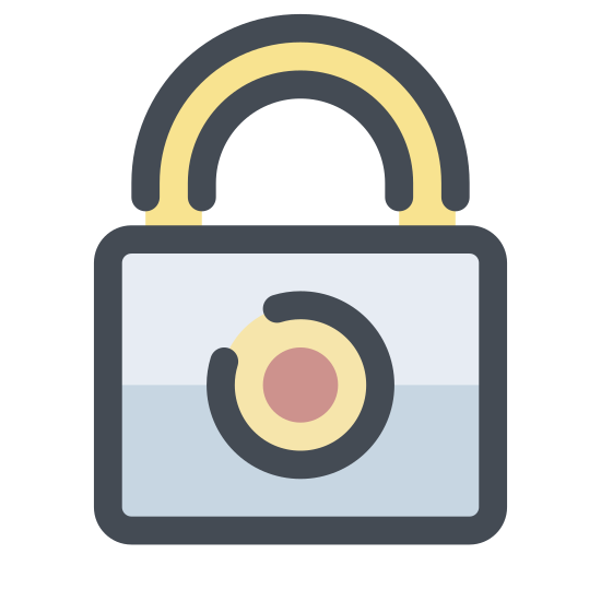 Kłódka icon. This is a graphic representation of a pad lock. The kind of lock that requires a key. A very simple image.