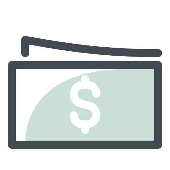 Pieniądze icon. Money is a currency that can either be circular in shape with rugged edges that are imprinted on it. Or rectangles with sharp edges, and very flat and very thin. It has things written on it to inform you of how much it is.