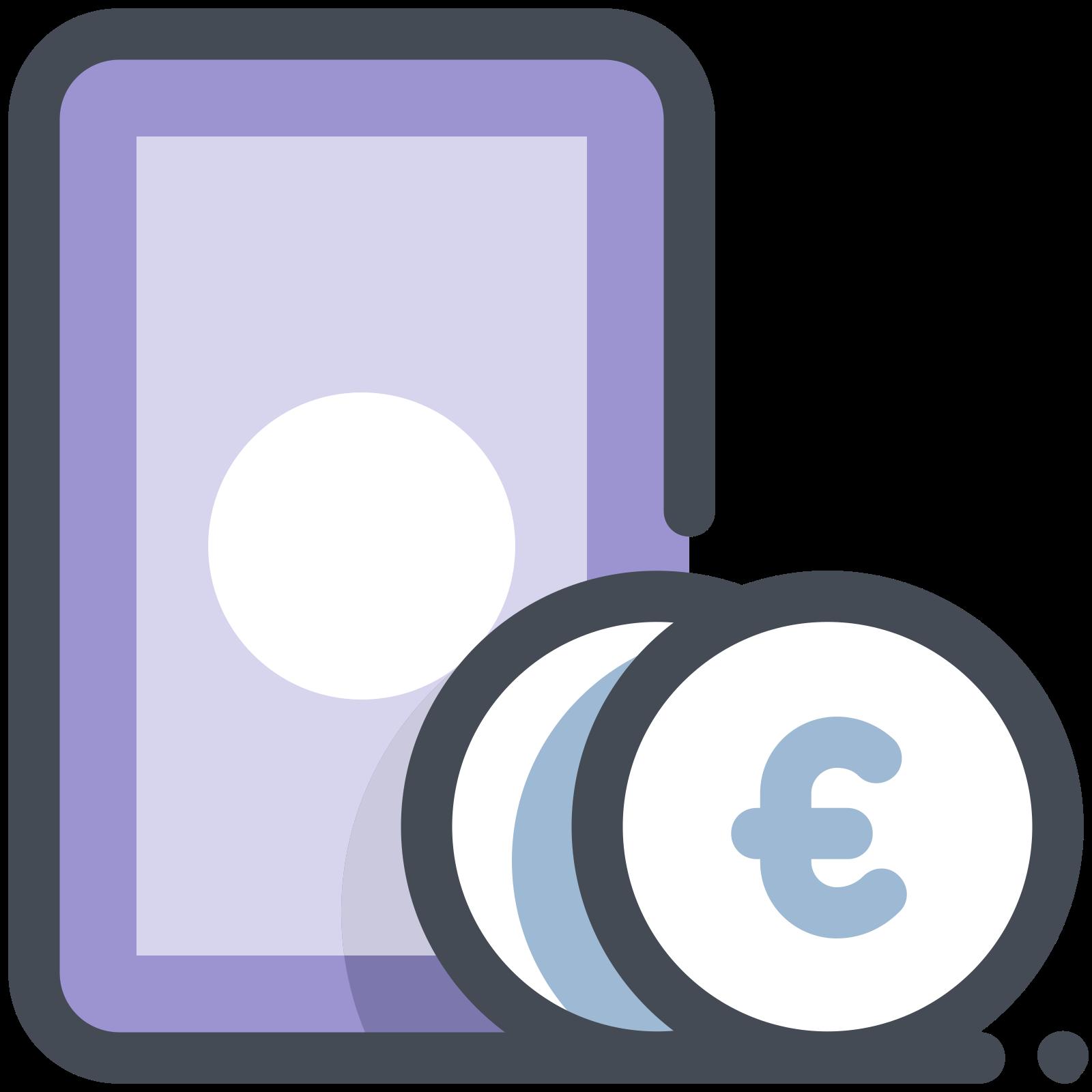 Notatki i monety Euro icon