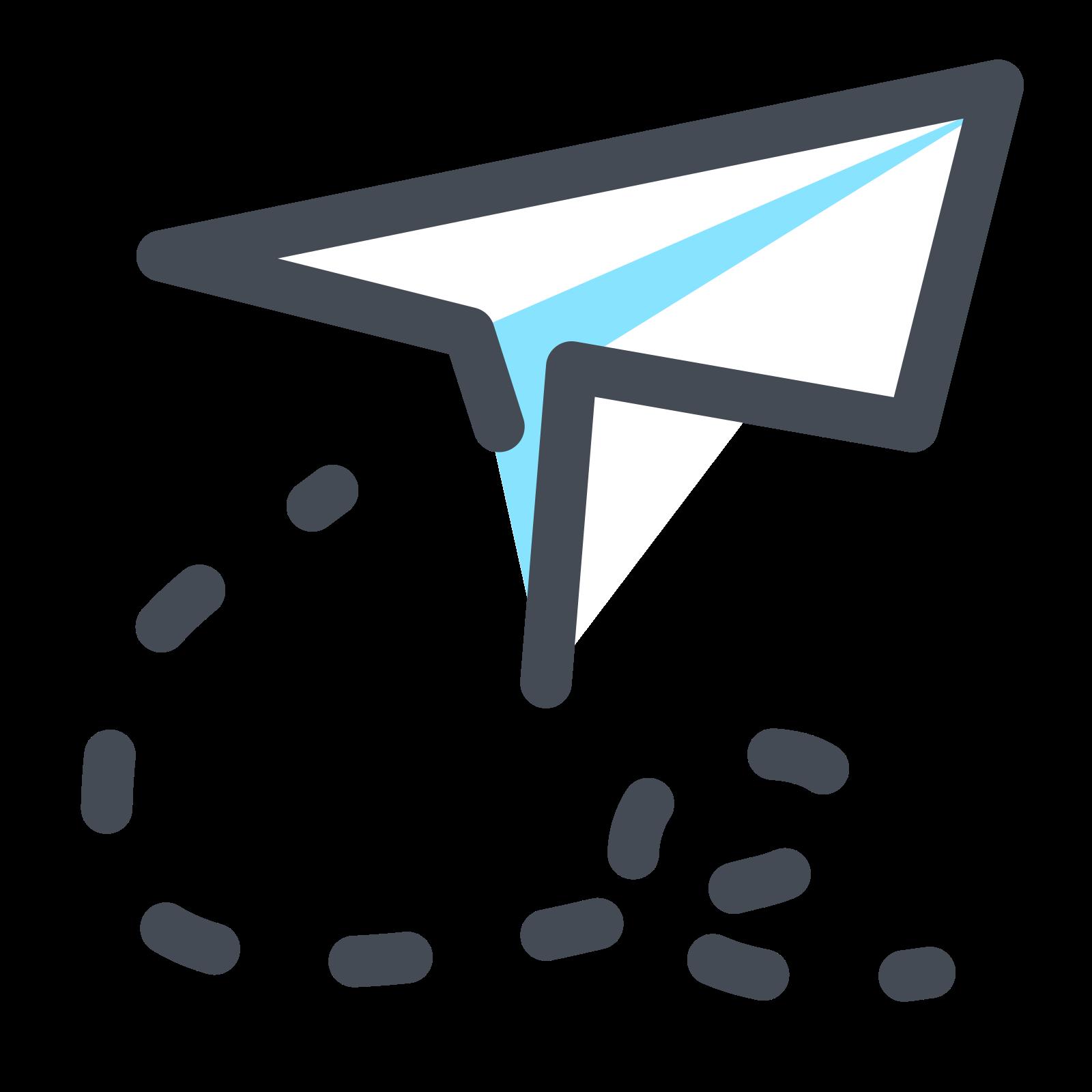 Papierowy samolocik icon
