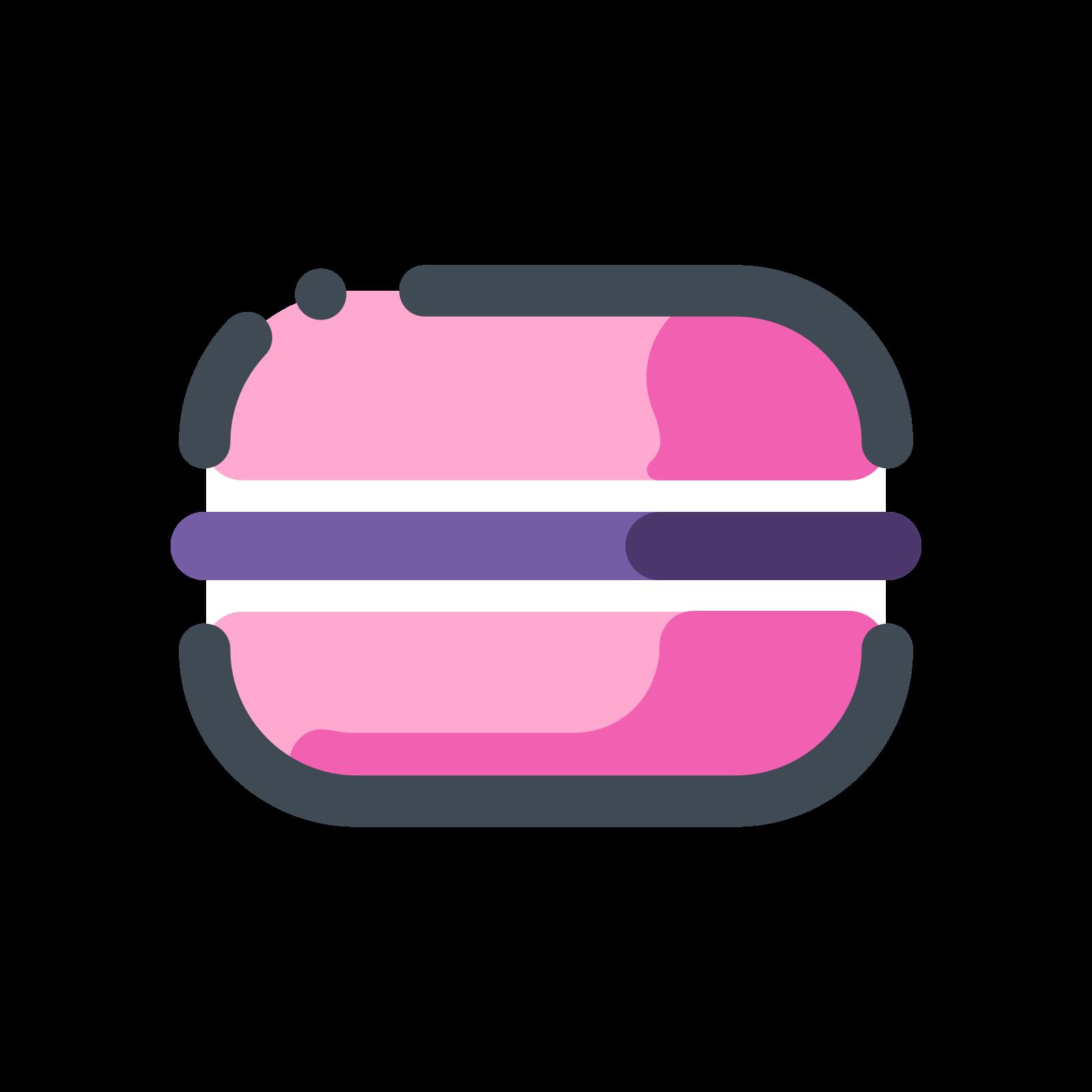 Розовый макарон icon