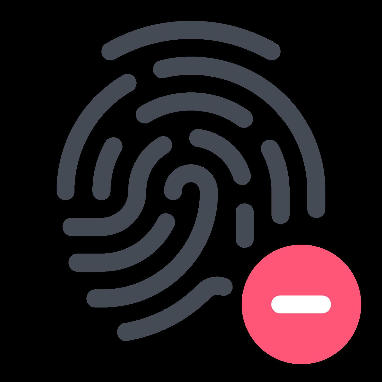 Remove Fingerprint icon