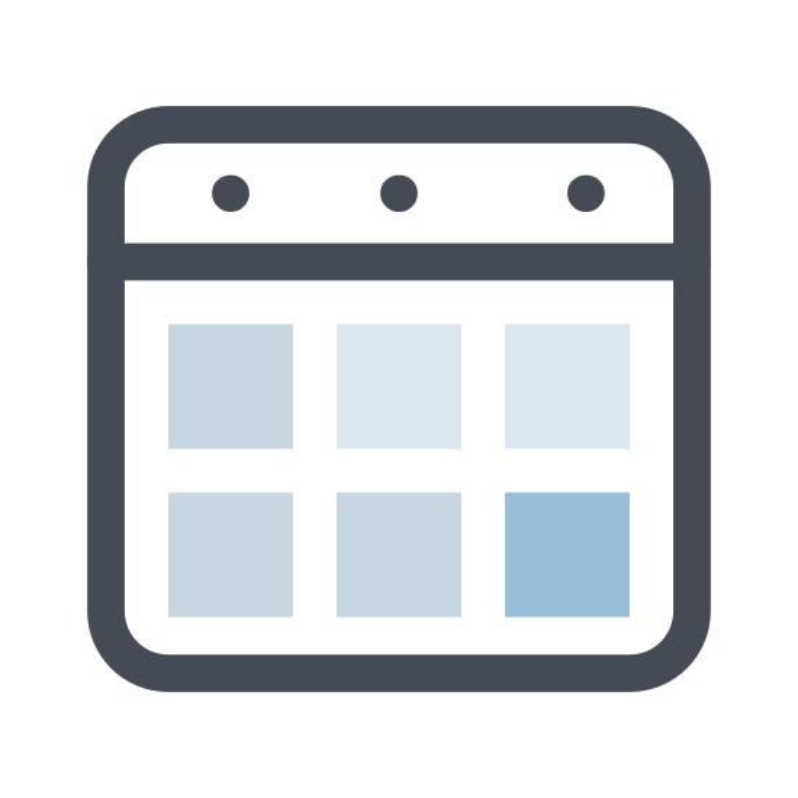 Kalendarz bloczkowy icon