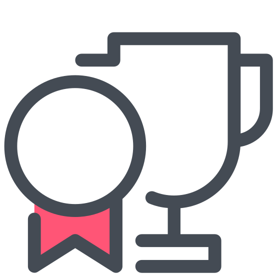Trofeum icon. It's a goblet-like object with two handles (one on each side) and a small base. The number 1 is bold and centered on it. The main part of the trophy itself is shaped like the lower half of an elongated egg.