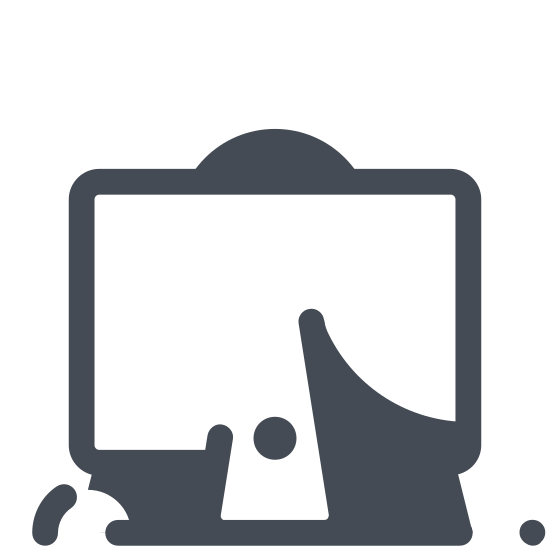 Working at the IMac icon