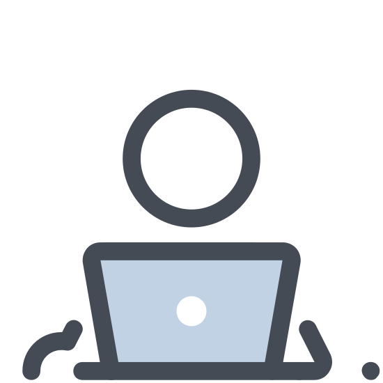 Working With a Laptop icon