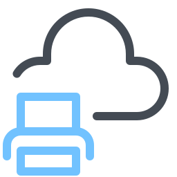 print from-cloud icon