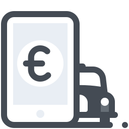 taxi mobile-payment-euro icon