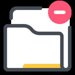 delete folder--v2 icon