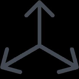 Стрелки в три направления icon