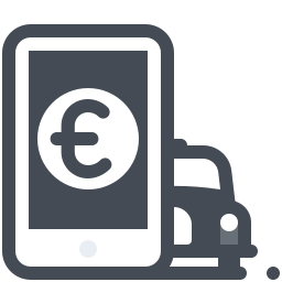 Cab Mobile Payment Euro icon