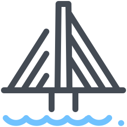 Ponte estaiada icon