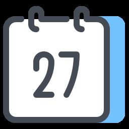 Calendar 27 icon