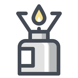 Réchaud de camping icon