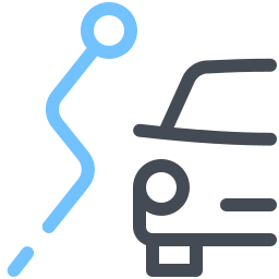 Car Alternative Route icon