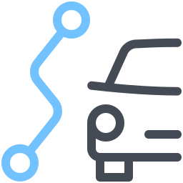 Car Route icon