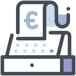 Cash Register Euro icon