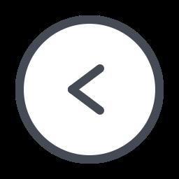 Шеврон влево в круге icon