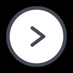 Шеврон вправо в круге icon