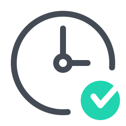 Reloj verificado icon