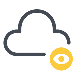 cloud privacy icon