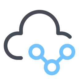 Символ Share Cloud icon