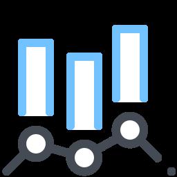 Grafico combinato icon