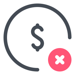 Delete Dollar icon